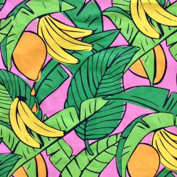 Bananas For Mango Dusky Pink fabric