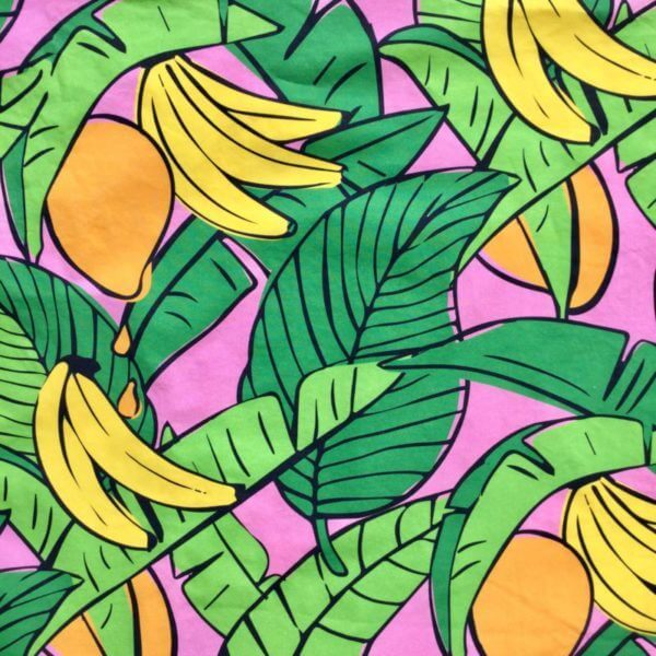 Bananas For Mango Dusky Pink fabric