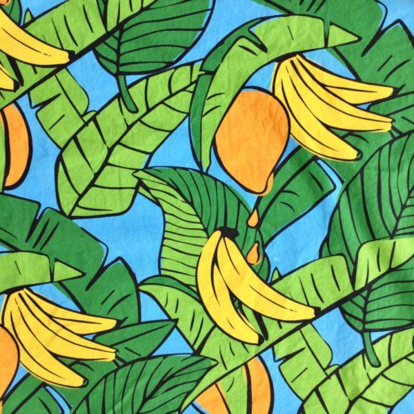 Bananas For Mangoes Lagoon Blue fabric