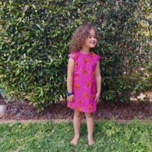 girls pink prawny prawn dress