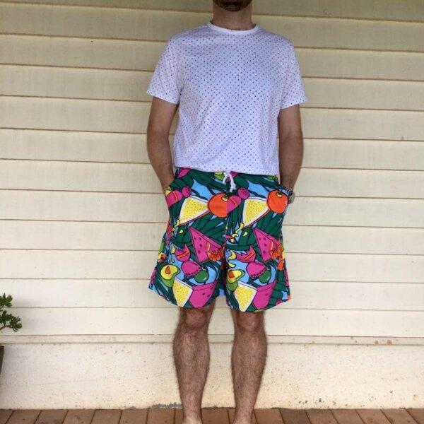 Deck the prawns mens shorts