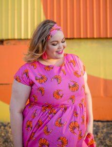 Prawny Prawn Ladies Babydoll dress and topknot in pink