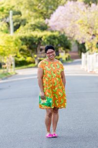 orange avo good day dress