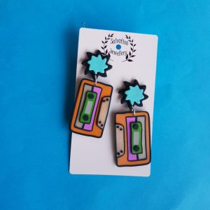 Mix Tape Dangle Earrings
