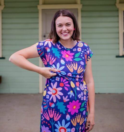 Sunshine Garden Ladies Breastfeeding Dress